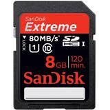 SANDISK SDHC Extreme 8GB UHS Class 10 [SDSDXS] - Secure Digital / Sd Card